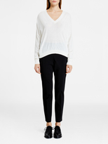 DKNY Pure V-Neck Cropped Pullover
