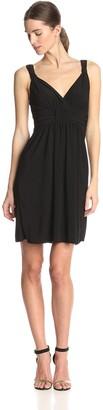 Star Vixen Women's Sleeveless Knot Front Surplice Dress