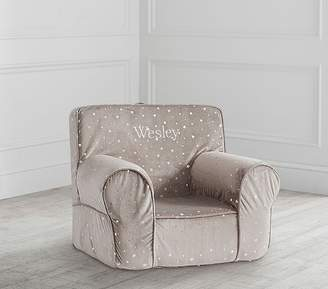 Pottery Barn Kids My First Taupe Chamois Metallic Star Anywhere Chair