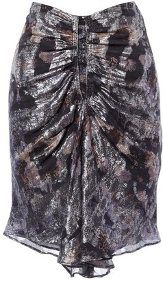 Isabel Marant Silver Silk Skirt for Women
