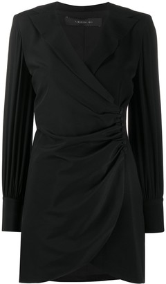 FEDERICA TOSI Long-Sleeve Wrap Dress