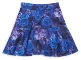 Dirtee Hollywood Girl's Rose Print Skater Skirt
