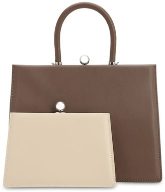 Ratio Et Motus Twin Frame Leather Top Handle Bag