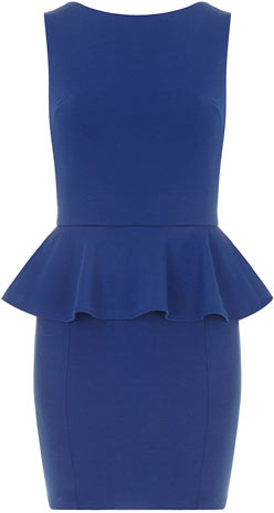 Dorothy Perkins Royal blue peplum dress