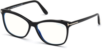 Tom Ford Blue-Light Blocking Square Acetate Convertible Optical Glasses