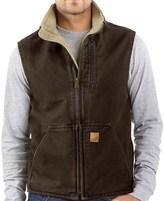 Carhartt Sandstone Mock Neck Vest - Sherpa Lining (For Big Men)