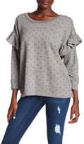 Current/Elliott Ruffle Star Print Sweatshirt