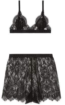 Gucci Flower lace lingerie set