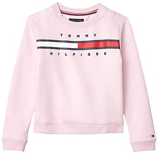 Tommy Hilfiger Adaptive Sweatshirt with VELCRO Brand Closure (Little Kids/Big Kids) (Pink Lady) Women's Sweater