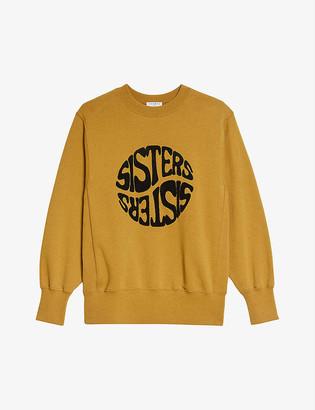 Sandro Sisty slogan-print cotton sweatshirt