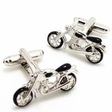 Utoy Covink Men's Rhodium Plated Enamel Cufflinks Silver Motorcycle Bike Shirt Wedding Business