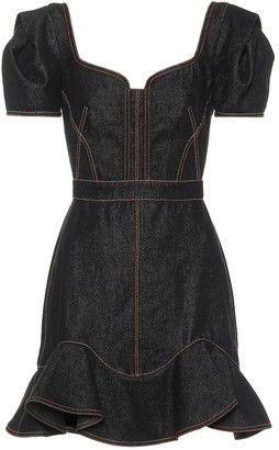 Alexander McQueen Denim minidress