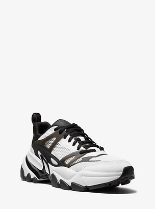 Michael Kors Nick Mesh and Leather Trainer