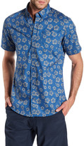 Burnside Floral Short Sleeve Contemporary Fit Shirt