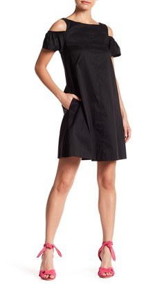 Betsey Johnson Cold Shoulder Solid Dress