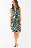 J. Jill Sleeveless Printed Shirtdress