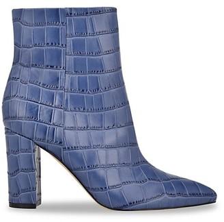 Marc Fisher Ulani 3 Croc-Embossed Leather Booties