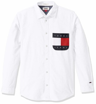 Tommy Hilfiger Men's Oxford Button Down Shirt with Contrast Pocket
