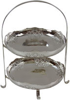 One Kings Lane Vintage 2-Tier Silver-Plate Cake Stand, C.1880