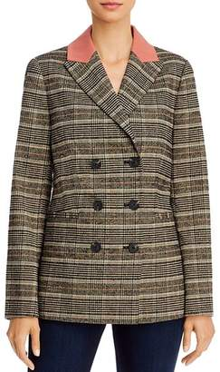 Rebecca Taylor Bouclé Plaid Double-Breasted Jacket