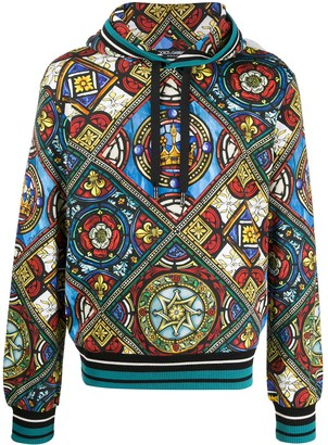 Dolce & Gabbana Stained Glass Window Print Hoodie