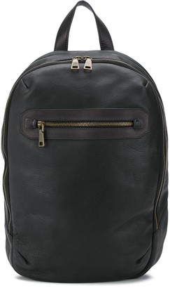 Officine Creative Cracked Leather Backpack