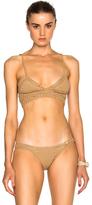 She Made Me Wrap Triangle Bikini Top in Neutrals,Brown.