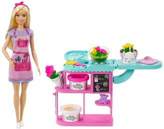 Mattel Barbie Florist Doll & Play Dough Playset