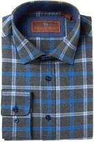 James Tattersall Long Sleeve Classic Fit Print Woven Shirt