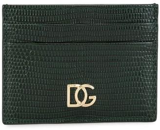 Dolce & Gabbana Embossed Crocodile-Effect Cardholder