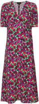 A.P.C. floral print midi dress