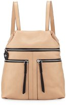 Oryany Chloe Leather Backpack, Almond