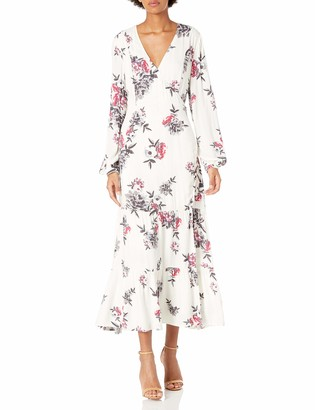 Somedays Lovin Women's Mary May Floral Print Midi Wrap Dress