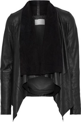 Muu Baa Muubaa Petrel Draped Washed-leather Jacket