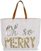 Mud Pie Happy Holidays Tote