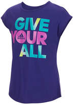 adidas Short Sleeve Crew Neck T-Shirt-Big Kid Girls