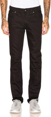 Nudie Jeans Thin Finn in Org. Dry Cold Black | FWRD