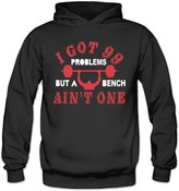 Sarah Women's I Got 99 Problems But Bench Ain't One Hoodie M