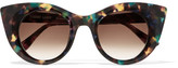 Thierry Lasry Hedony Cat-eye Acetate Sunglasses - Brown