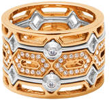 Henri Bendel Chrysler Cut Out Ring
