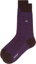 Vivienne Westwood Textured Socks Dark Brown Mix/Blackberry Size M