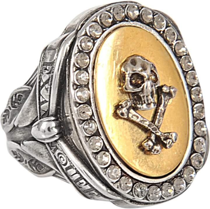 Alexander McQueen Skull and Ribbon ring