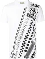 Versace logo patterned print T-shirt