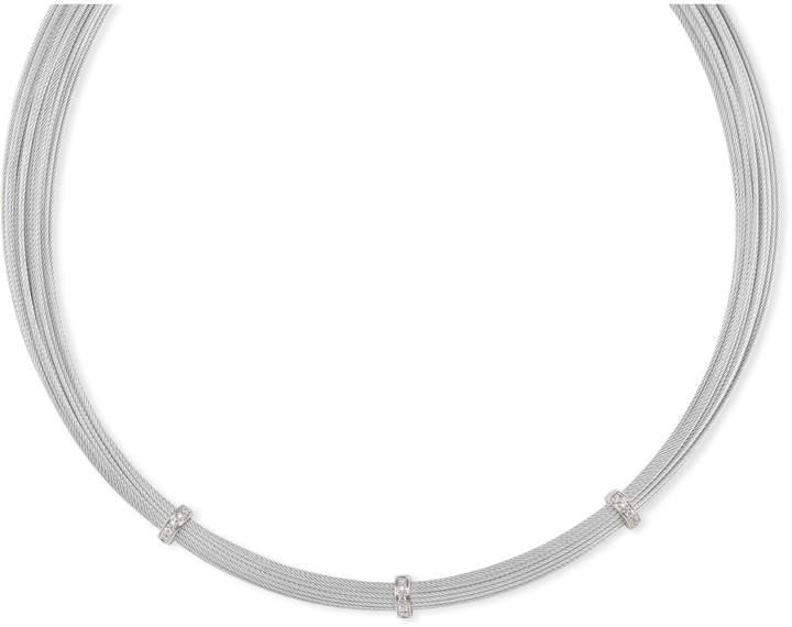 Alor Multi-Strand Necklace w/ Diamond Stations