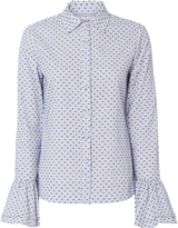 Derek Lam 10 Crosby Clipped Embroidery Shirt