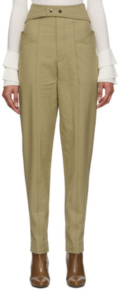 Isabel Marant Khaki Lixy Trousers