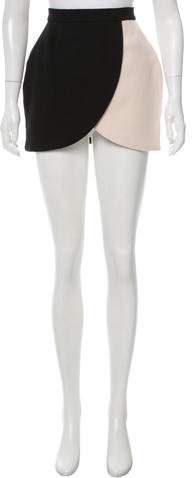 Tata-Naka Tata Naka Colorblock Wool Skirt w/ Tags