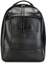 Hood by Air embossed logo backpack - men - Calf Leather - One Size