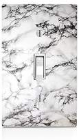 MWCustoms White Marble Design Light Switch Plate
