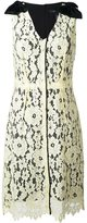 Marc Jacobs floral lace midi dress - women - Silk/Cotton/Nylon/Rayon - 6